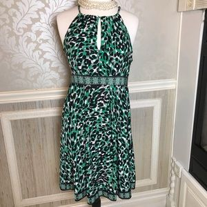 INC large leopard animal print sleeveless dress